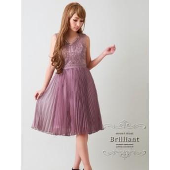 結婚式お呼ばれワンピース ドレス ミニ 膝丈 パーティードレス S~XLサイズ 大きいサイズ ビーズ刺繍 シルクシフォンプリーツミニドレス