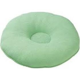 ビーズソフト円座 グリーン 外形40cm、内径11cm、厚さ 約14cm