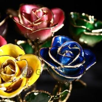 プリザーブドフラワー ギフト 『ゴールドプレスティージ バリエーションローズ』【薔薇 結婚祝い プロポーズ プレゼント プリザードフラ