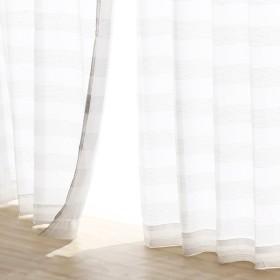 ステップボイルカーテン グレー 100×103cm 二枚入り レースカーテン