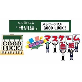 飛び出せ!マスゲーム色紙 惜別編 「GOOD LUCK!」 ギフト 景品 プレゼント 寄せ書き 色紙 卒業式 卒園式 記念品