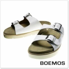 【旧作処分セール 70%OFF!】BOEMOS ボエモス 2ストラップレザーサンダル E6-5071 / BRIAN ホワイト