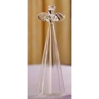 置物 祈りの天使 ミルキーカラー ガラス製 (クリア)