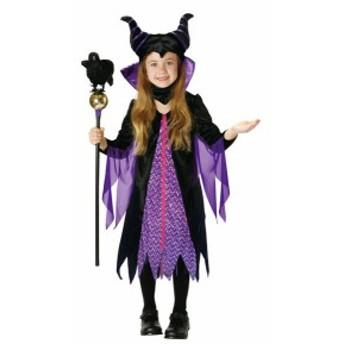 送料無料 子供 マレフィセントM 120-140cm対応 女の子 ディズニー 公式ライセンス コスプレ 仮装 眠れる森の美女 衣装