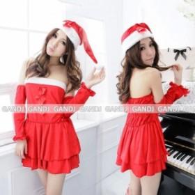 即納/サンタコスプレ ストラップ サンタコスプレクリスマス衣装クリスマスコスプレ9439