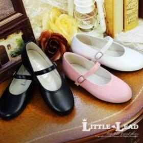 子供 靴 女の子 ストラップフラットシューズ リトルリード L-800 LITTLE LEAD 17-24cm[l-800]