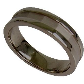 刻印無料 ブラックシルバー シンプル ペアリング マリッジリング 結婚指輪 メンズ単品|雑誌掲載人気ブランド|プレゼント推奨|95-2025B
