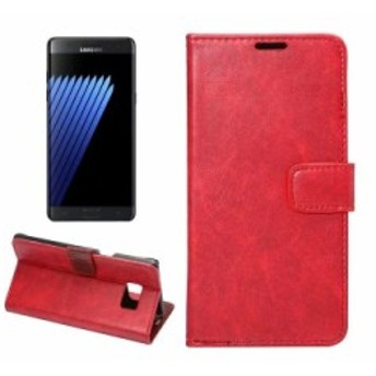 Samsung Galaxy Note 7 用 PU合皮 カード入れ 手帳タイプ スタンドケース#レッド 送料込