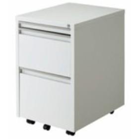 【送料無料】 スライドテーブルキャビネット ホワイト W400×D510~910×H615mm RWX-F520W ナカバヤシ