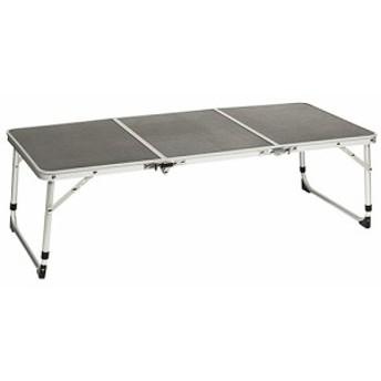 クイックキャンプ (QUICKCAMP) アウトドア 折りたたみ ミニテーブル ロング 90×40cm グレー QC-3FT90 高さ2段階 三つ折り 軽量 折り畳み
