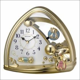 リズム時計 クロック 4SG762SR18 置き時計 ファンタジーランド762SR