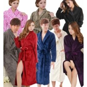 ルームウェア モコモコ メンズ レディース ネグリジェ バスローブ 着る毛布 ガウン 長袖 ロング ヒョウ柄 d750