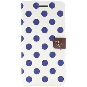 ハッピーモリ iPhone6 PLus スタイルドットダイアリー ネイビー HM5123i6P(1コ入)[ケース・ジャケット]【送料無料】