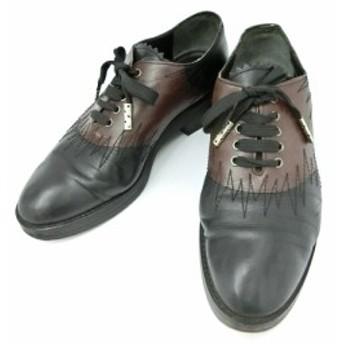Jean Paul GAULTIER ジャンポールゴルチエ「3 1/2」ゴシックレザーブーツ (ゴルチェ 靴シューズ) 084622【中古】
