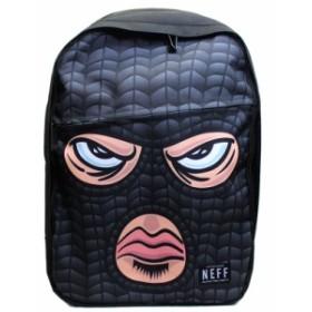 ネフ リュックサック NEFF Disney リュックサック バッグ バックパック HOOD マスク ブラック 15f68001-hood 新品