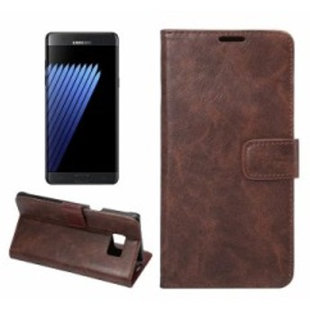 Samsung Galaxy Note 7 用 PU合皮 カード入れ 手帳タイプ スタンドケース#ディープブラウン 送料込