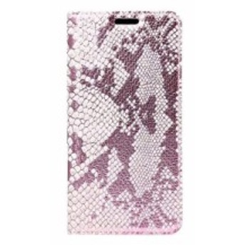 Samsung Galaxy Note 7 用 ヘビ革風 保護防塵 スタンドケース カバー #ローズゴールド 送料込
