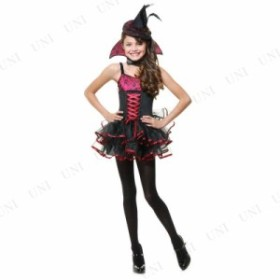 !! バンパイアウィッチ 子供用 XS 仮装 衣装 コスプレ ハロウィン 子供 キッズ コスチューム 魔女 子ども用 こども パーティーグッズ 魔