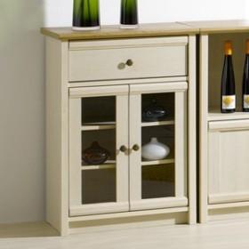 食器棚 ローキャビネットフレンチカントリー Milfie 幅59cm ( 送料無料 キャビネット キッチン収納 リビング収納 食器収納 引き出し