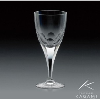( カガミクリスタル / ガラス ) ワイングラス ( ロイヤルライン・K802-72白 )