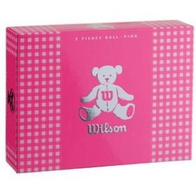 ウイルソン BEAR3 PK 12P レディースゴルフボール ウイルソンベア 3(ピンク)1ダース 12個WilsonBear[BEAR3PK12P]【返品種別A】