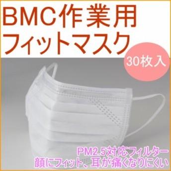 BMC 作業用フィットマスク 30枚入り 粉じん ホコリ ほこり かぜ 風邪 花粉 ウイルス対策 予防