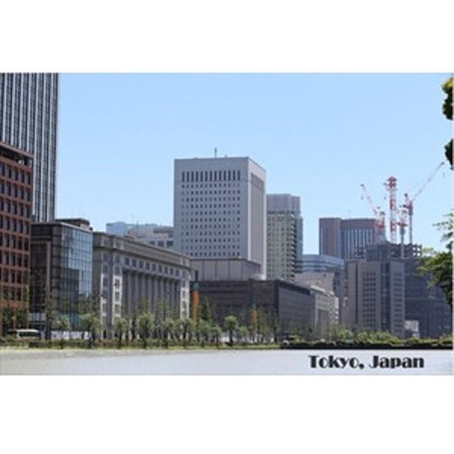 【日本の観光地ポストカード】「Tokyo, Japan」皇居付近の風景の葉書はがき photo by MIRO