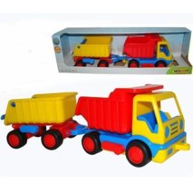 ポリシエ Basics ダンプカー&トレーラー 車のおもちゃ 砂場 おもちゃ 3歳 4歳 5歳 子供 誕生日プレゼント 知育 男の子 男 女の子 女