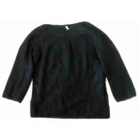 美品 NOLLEY'S ノーリーズ「38」モヘヤニットセーター (黒) 102966【中古】