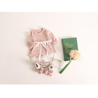 韓国子供服 ベビー 長袖Tシャツ+ブルマ セット  kz-kf07031609