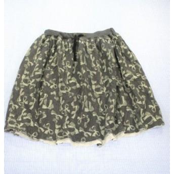 フィス FITH 140cm スカート グレー系 美品 女の子 ジュニア 子供服