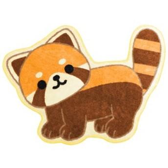 【MEIHO レッサーパンダのトイレマット ME177】愛らしい表情で、トイレでもお部屋でもレッサーパンダがいるみたいで癒されちゃいます!
