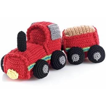 ラトル がらがら おもちゃ 赤ちゃん 0歳 1歳 子供 誕生日プレゼント 誕生日 男の子 男 女の子 女 出産祝い pebble トラクター(ラトル