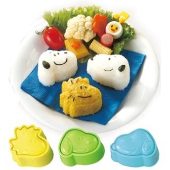 おにぎり押し型 スヌーピー おにぎり抜き型 キャラ弁 日本製 キャラクター ( お弁当グッズ ご飯押し型 ご飯抜き型 SNOOPY ウッドス
