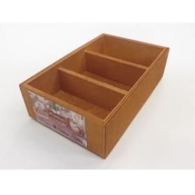 木製BOX 仕切り3マス・スタッキングタイプ