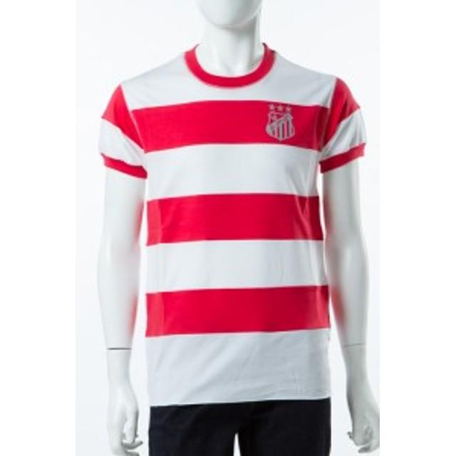 2017年春夏新作 ルシアンペラフィネ lucien pellat-finet Tシャツ メンズ (EVH292)ホワイト×レッド