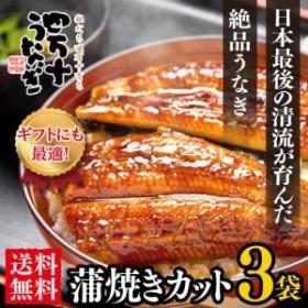 【日本最後の清流が育んだ】四万十うなぎ蒲焼きカット3袋【送料無料】【国産鰻】