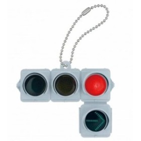 ZAK 日本信号 ミニチュア灯器コレクション 車両用 矢印付/赤信号点灯