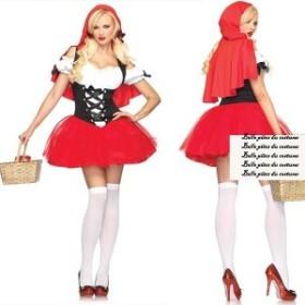 ★▼[在庫限り][送料無料][コスプレ衣装]フリーサイズ赤ずきんちゃん風ハロウィンクリスマス忘年会