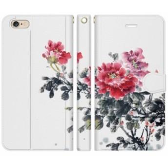 [iPhone 6 Plus / iPhone 6s Plus 手帳型 スマホケース カバー] 和柄 水墨画 :D