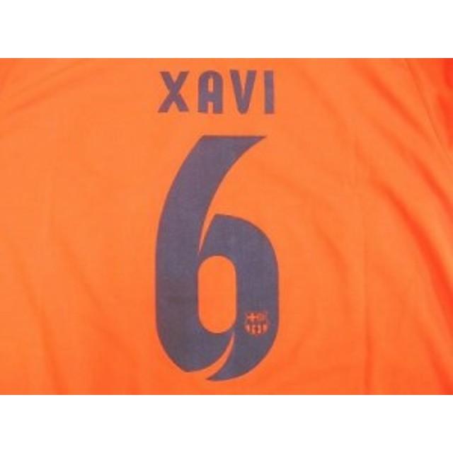 400a5b23f4a102 子供用 K134 14 バルセロナ XAVI6 シャビ オレンジ ゲームシャツ パンツ付 /サッカー/キッズ