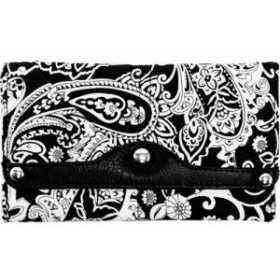 パリンダ お財布 レディース【Parinda Madaline Wallet】Black Paisley