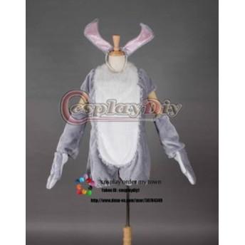 高品質 高級コスプレ衣装 ハロウィン ディズニーランド イースターワンダー 風 とんすけ タイプ 着ぐるみ miss bunny グレー Ver.2