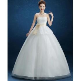 ヘアトップ ウェディングドレス ホワイト パーティードレス ワンピース カラードレス 二次会 演奏会 披露宴 結婚式 発表会 代引可