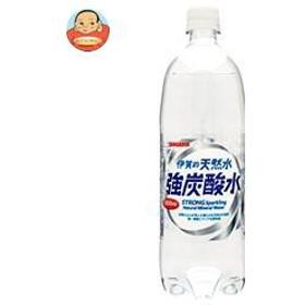 【送料無料】 サンガリア  伊賀の天然水  強炭酸水  1Lペットボトル×12本入