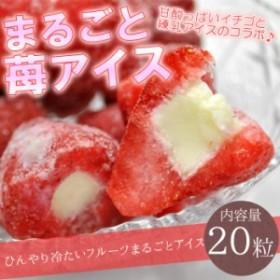 【送料無料】まるごと苺アイス 20粒 ※練乳いちごアイス / 沖縄.離島配送不可