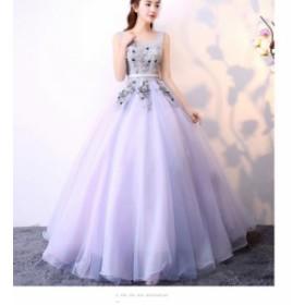 大人気 結婚式 ワンピース ドレス袖なし ウェディングドレス 二次会 パーティドレス ロング お呼ばれドレス 大きいサイズ成人式ドレス