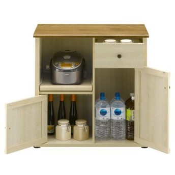 キッチンカウンター スライド棚フレンチカントリー Milfie 幅79cm ( 送料無料 棚 キッチン収納 リビング収納 家電収納 食品収納 スラ