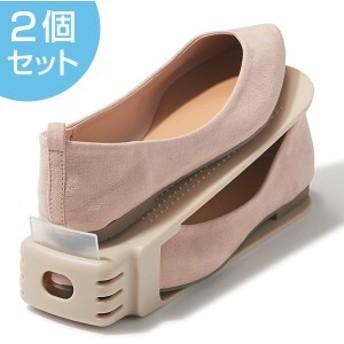 靴 収納 くつホルダー ローファー スリム 2個セット ( 靴ホルダー シューズ 下駄箱 整理整頓 くつ クツ 靴箱 シューズホルダー 省