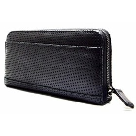 d76e33063ae09a Real Leather LONG WALLET ラムレザー ラウンドジップ長財布 col.Panting Black パンチングブラック